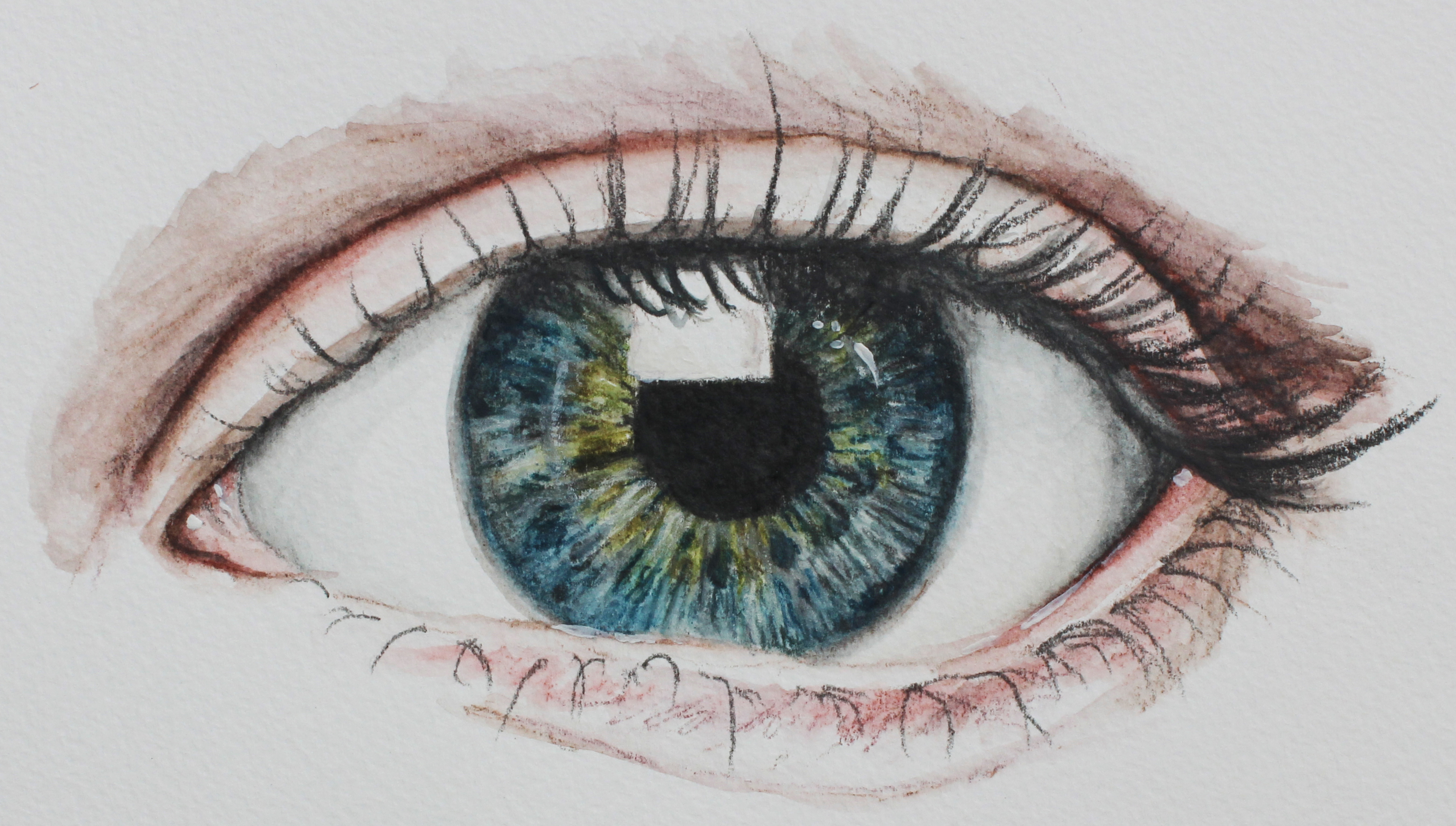 How to draw with colored graphite - Finished image