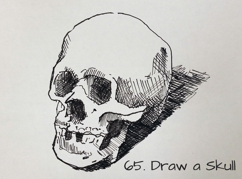 Draw a skull - Sketchbook Idea #65