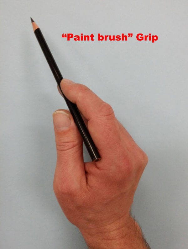 Paint Brush Pencil Grip