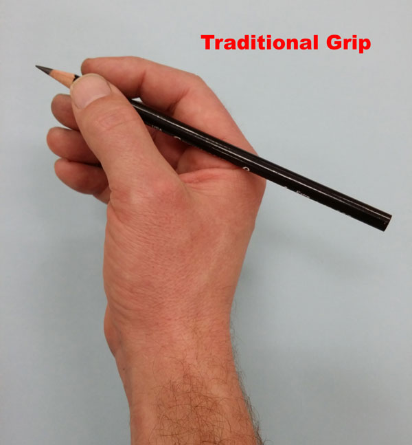 Traditional Drawing Grip