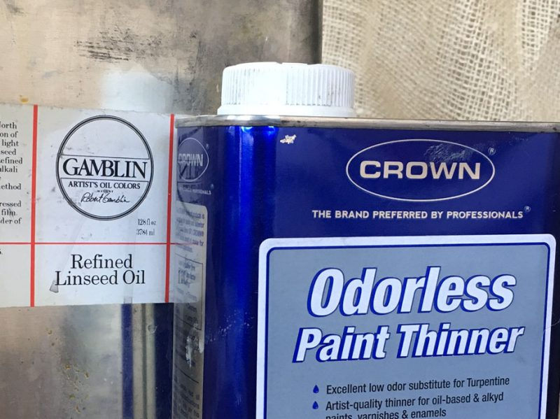 Linseed oil and paint thinner