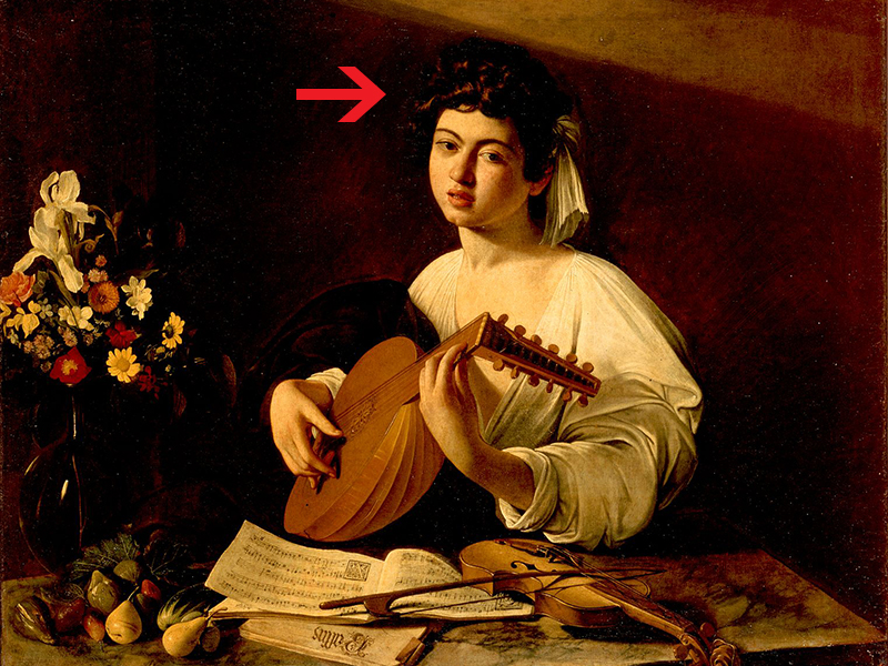 Caravaggio's approach to painting texture