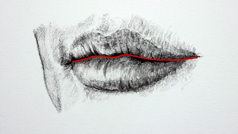 Drawing Lines Between : How to draw mouths