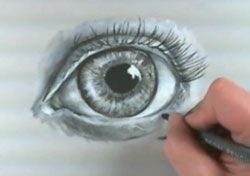 Eyes with charcoal-step 7 - eyelashes