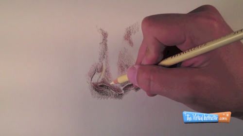 Colored Pencils Nose drawing