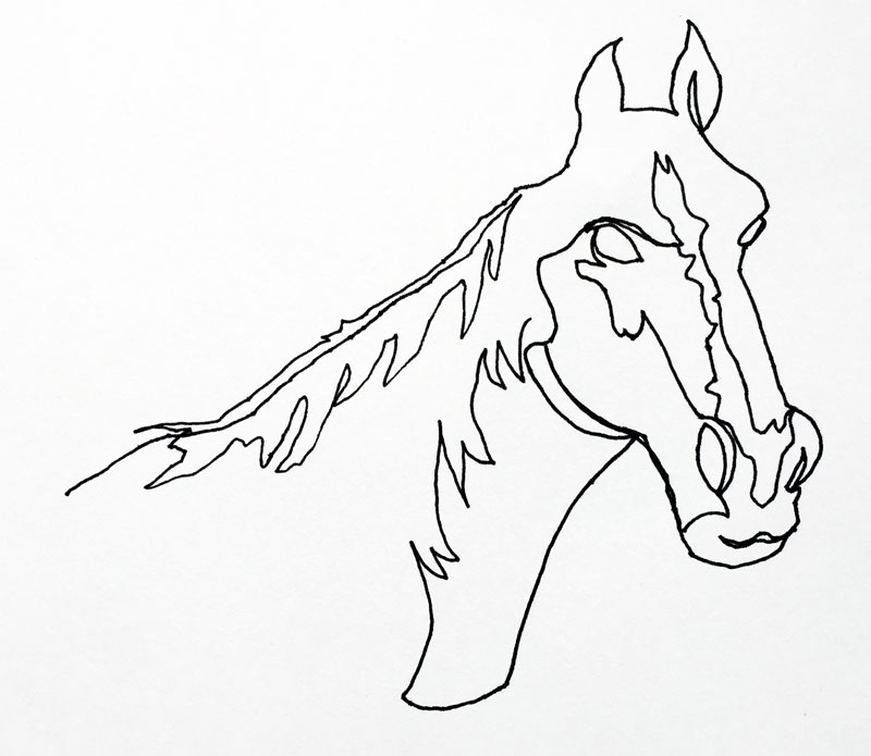 Line Art Work : Continuous line drawing