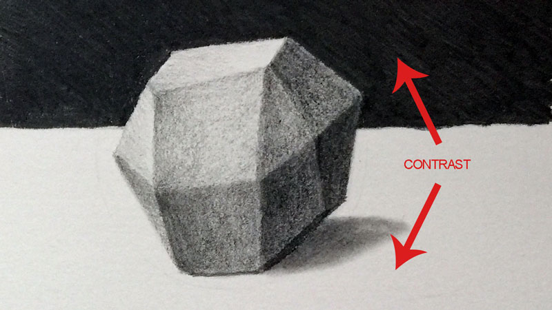 Using contrast in a drawing