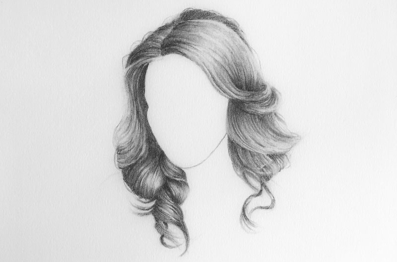 Drawing hair with pencil