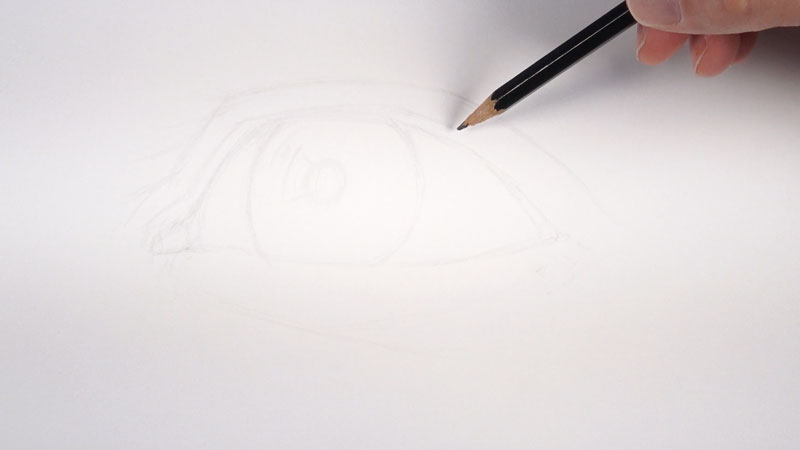 Drawing a realistic eye step one