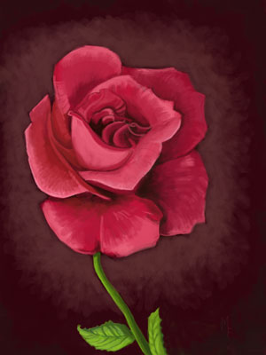 How to Paint a Rose-iPad