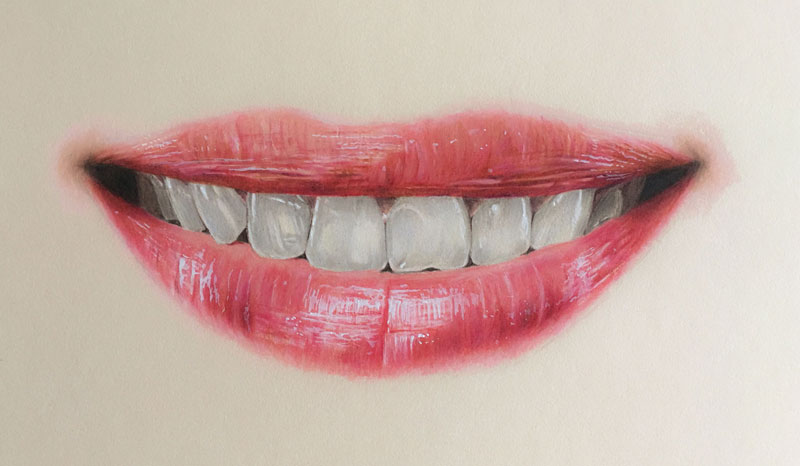 How to Draw a Realistic Mouth with Colored Pencils Pencil Drawings Of Lips Smiling