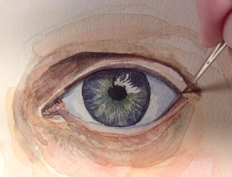 eye painting watercolour images