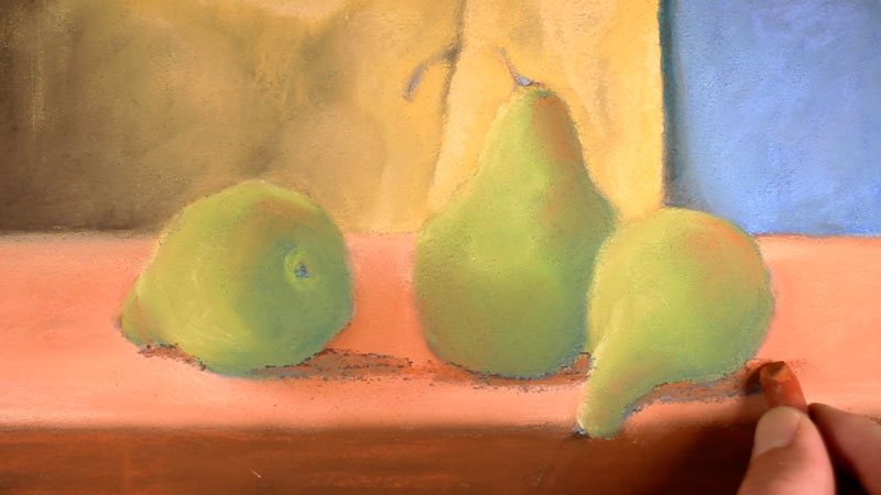 Creating shadows with pastels