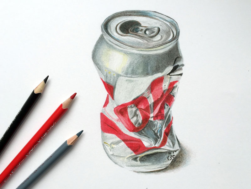 realistic colored pencil drawing - Color Drawings