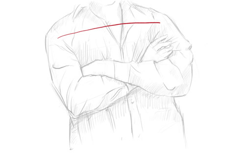 How to draw crossed arms