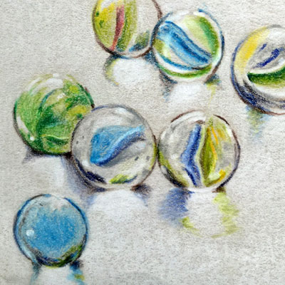 Colored Pencil Marbles