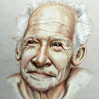 Colored Pencil Portrait Sketch