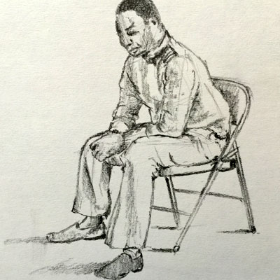 Sketching a Seated Figure