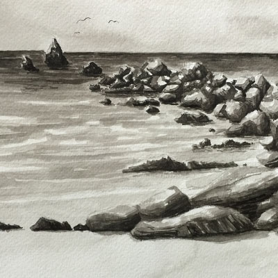 Ink Wash Landscape Series