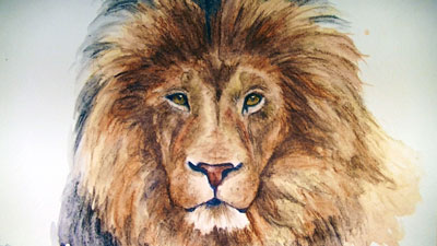How to draw a lion with Graphitint Pencils