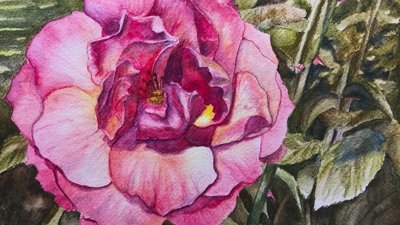 How to use watercolor pencils - Flower