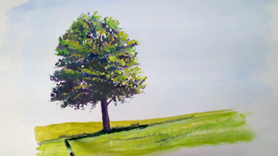 How to Paint a Tree with Gouache
