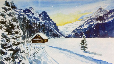 How to Paint a Snow Scene with Gouache