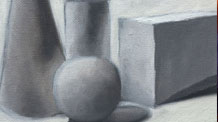 How to paint basic forms with oils