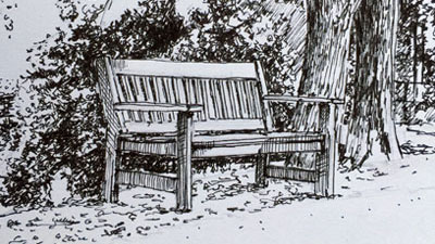 Pen and ink landscape drawing tutorial