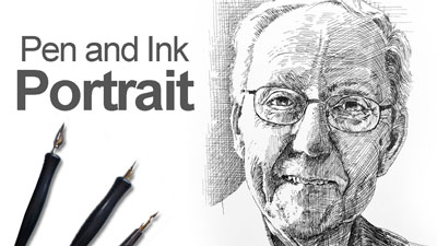 Pen and Ink Portrait Lesson