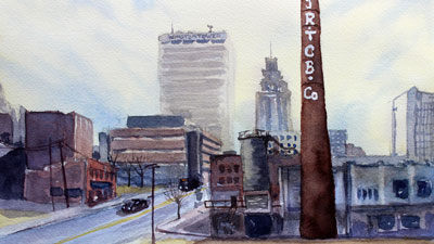 Watercolor Cityscape Lesson Part 1