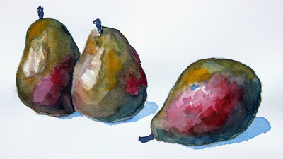 Watercolor Still Life Lesson