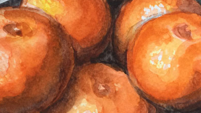 Watercolor Painting Lesson of Oranges