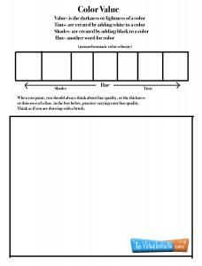 Color Theory Worksheet 3- Values