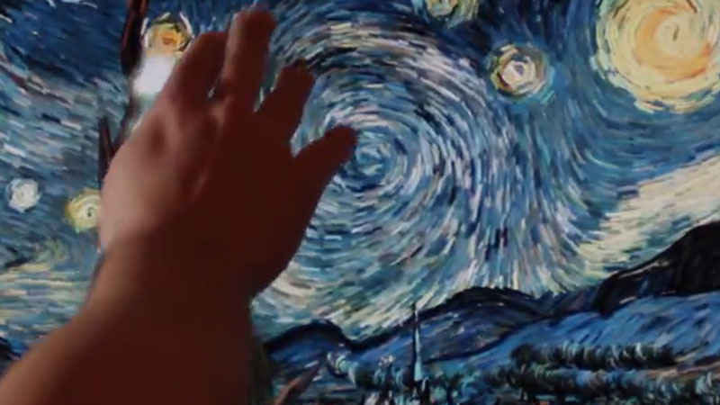 Teach movement to students with interactive Van Gogh