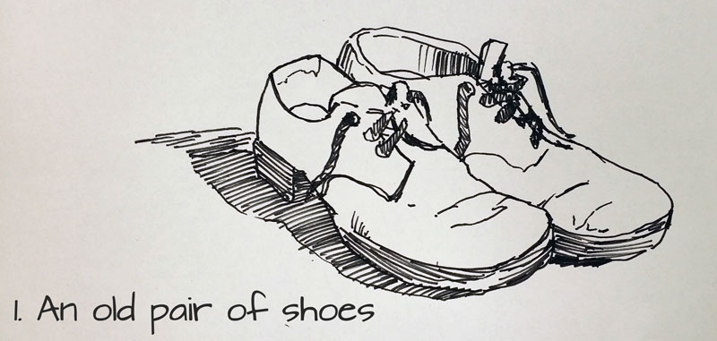 Drawing idea #1 - An old pair of shoes