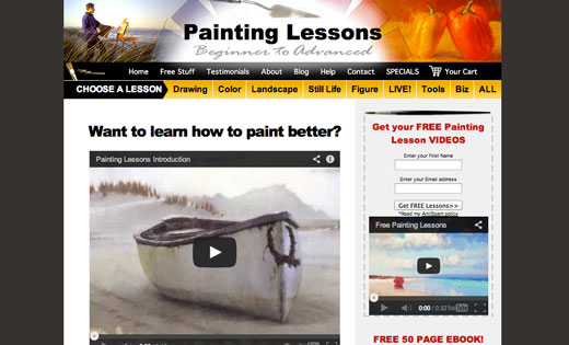 Live Painting Classes