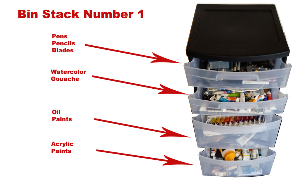 Art Supply Stack Container 1