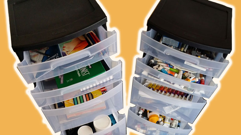Organizing Art Supplies