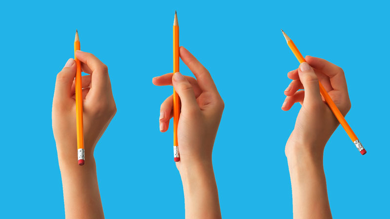 5 Grips for holding your pencil