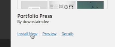 Install Portfolio Press
