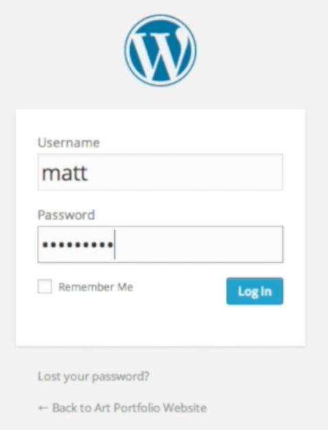 Login to WordPress