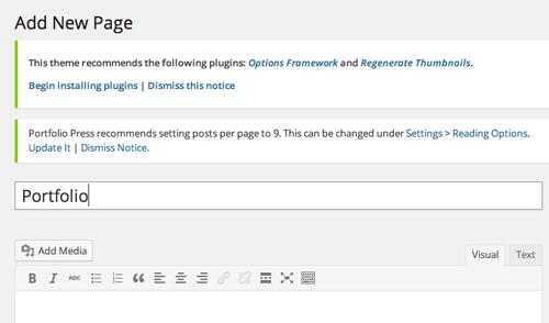 Make a Portfolio Page