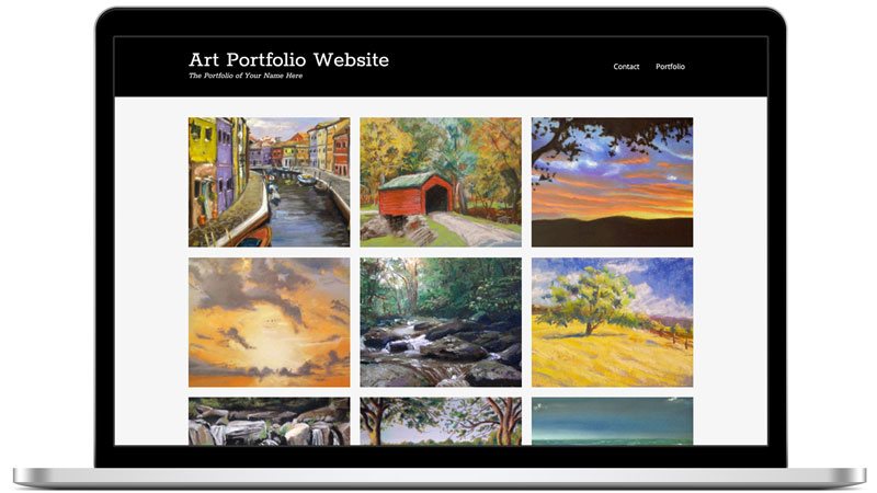 Build an art portfolio website
