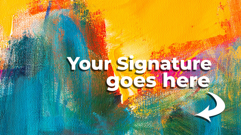 How to sign art