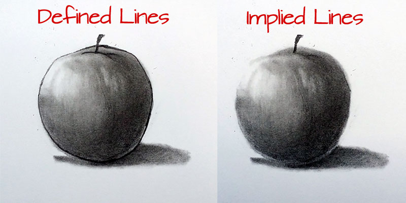 Line Drawing Definition : Implied lines in drawing losing the edges