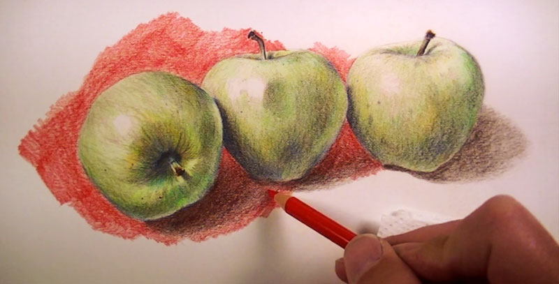 Oil Based Colored Pencil Drawing