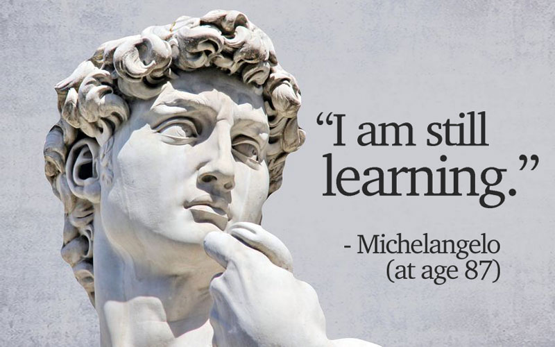 Image result for i am still learning michelangelo