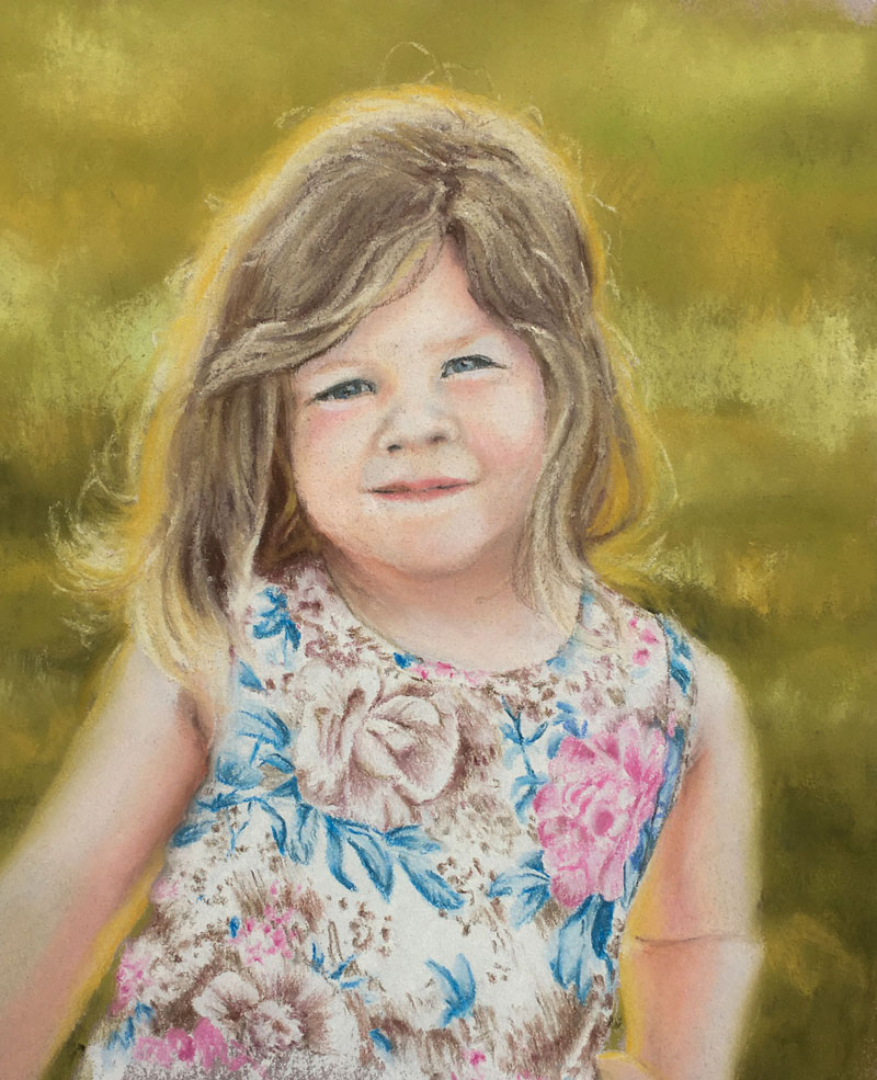 Pastel Portrait Child