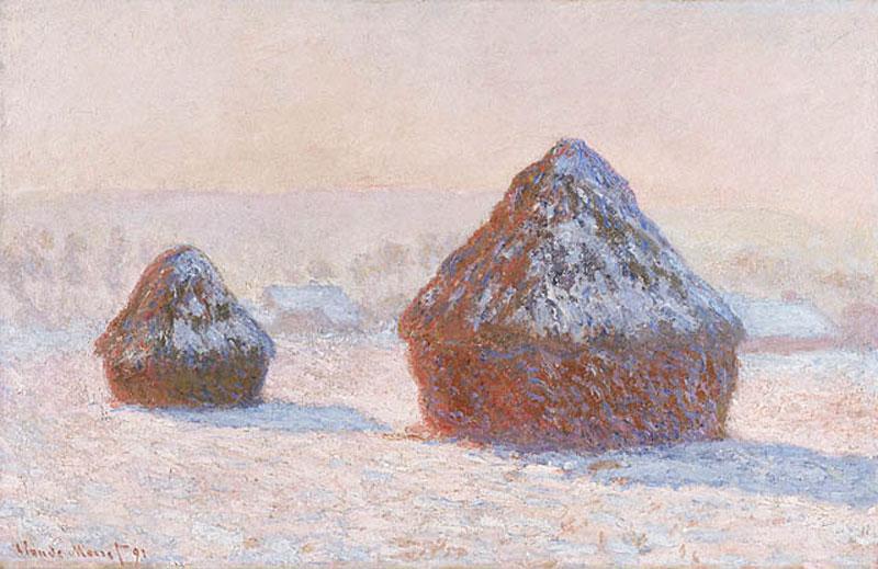 Monet Wheatstack Winter